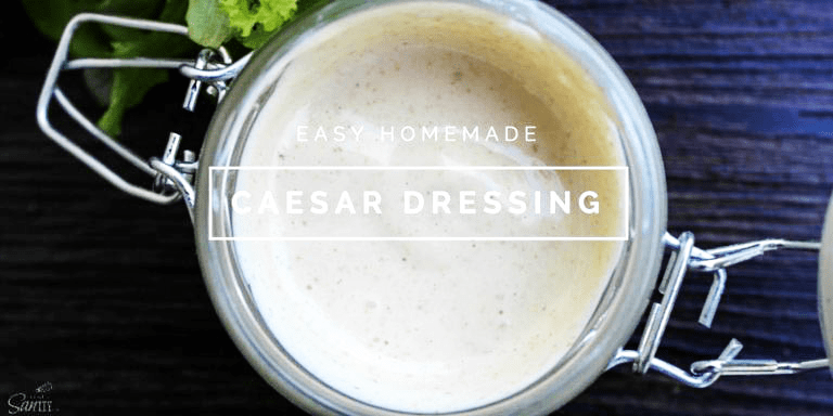 This Easy Homemade Caesar Dressing is easy to make, ready in just 5 minutes and let me tell you, it tastes so much better than store bought Caesar dressing!