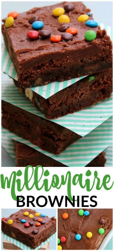 Millionaire Brownies pinterest image