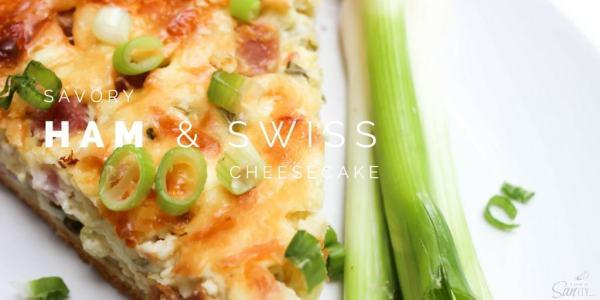 Savory Ham & Swiss Cheesecake FB