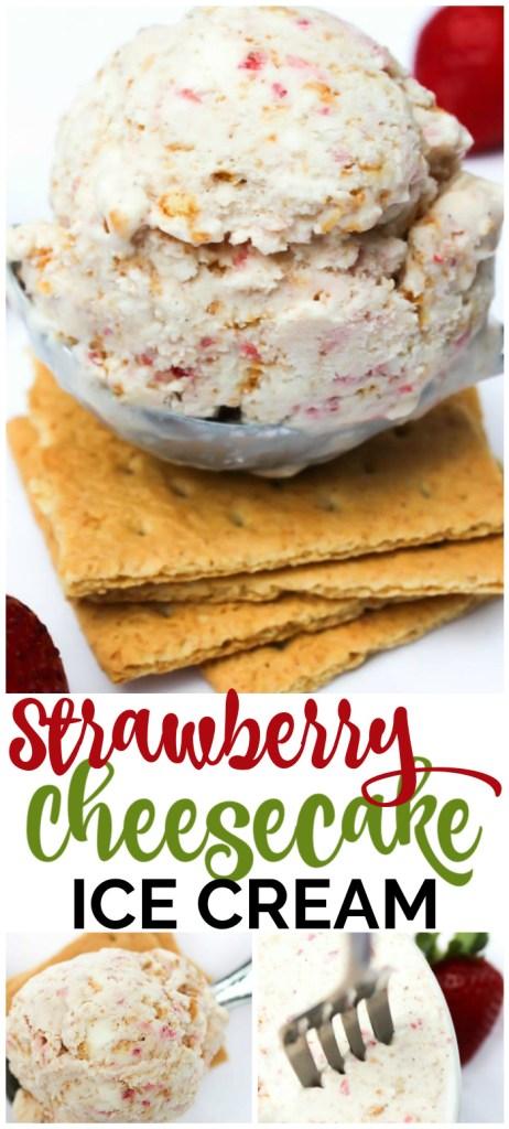 Semi-Homemade Strawberry Cheesecake Ice Cream pinterest image