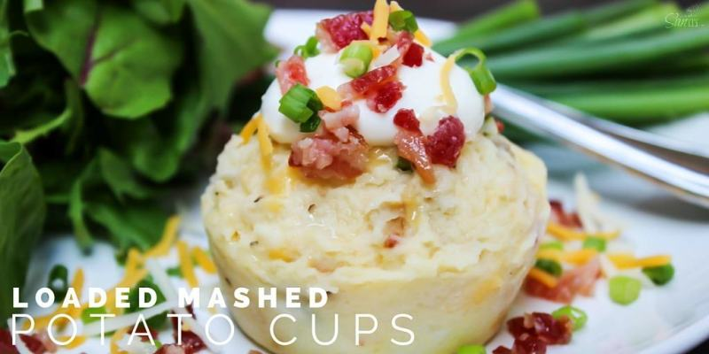 These Loaded Mashed Potato Cups are perfect for holiday gatherings. Easy to serve & prepare and are loaded with everything that is good - bacon and cheese.