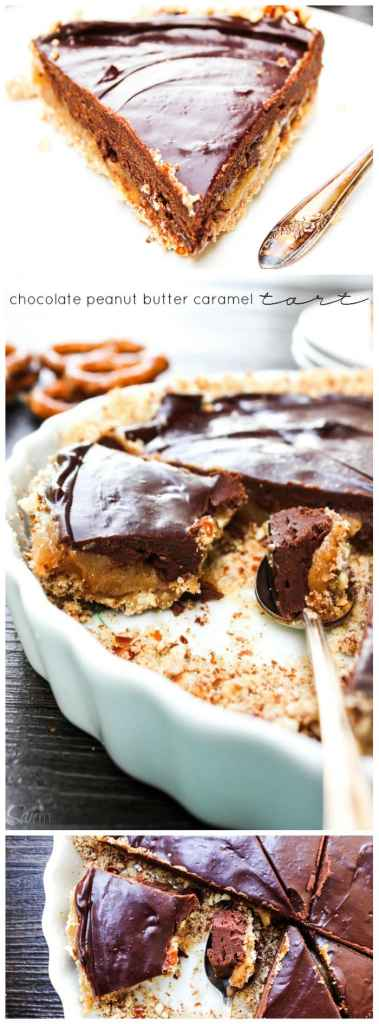 Chocolate Peanut Butter Caramel Tart LONG PIN