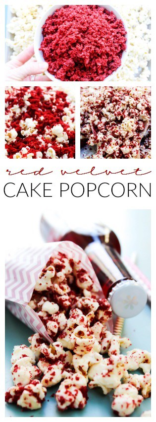 Red Velvet Cake Popcorn LONG PIN