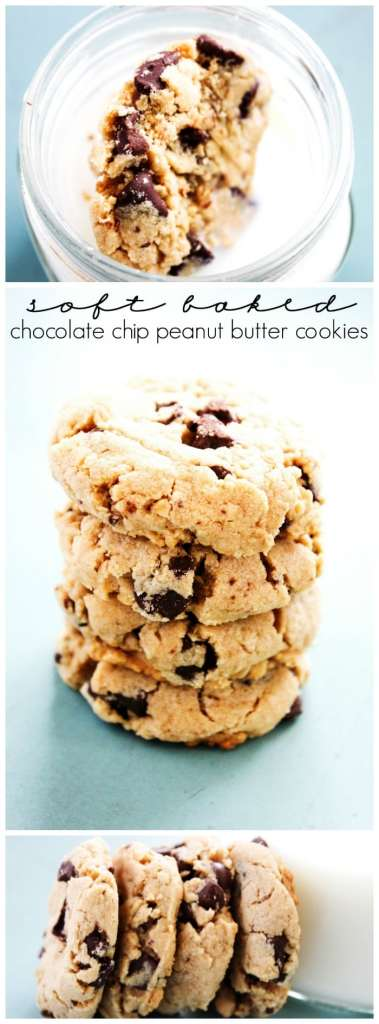 These Best Ever Soft Baked Chocolate Chip Peanut Butter Cookies are deliciously soft. Trust me friends, these won't last long in the cookie jar.
