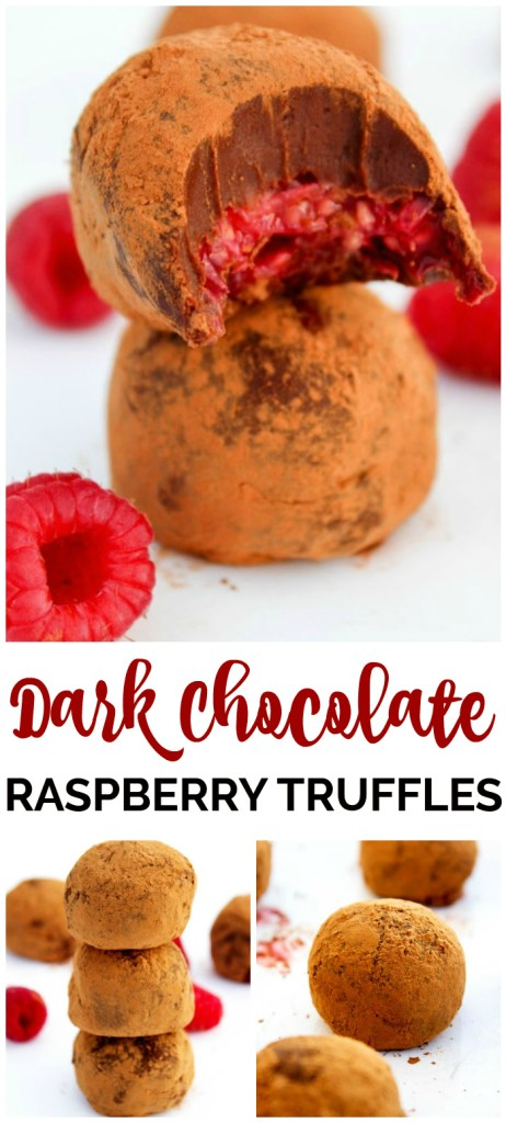 Dark Chocolate Raspberry Truffles pinterest image