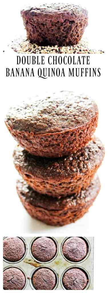 Double Chocolate Banana Quinoa Muffins are a delicious source of protein, iron, and whole grains. These muffins will quickly become a family favorite.
