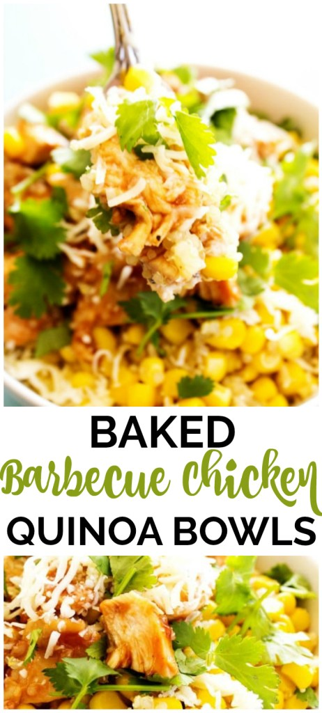 Baked Barbecue Chicken & Quinoa Bowls