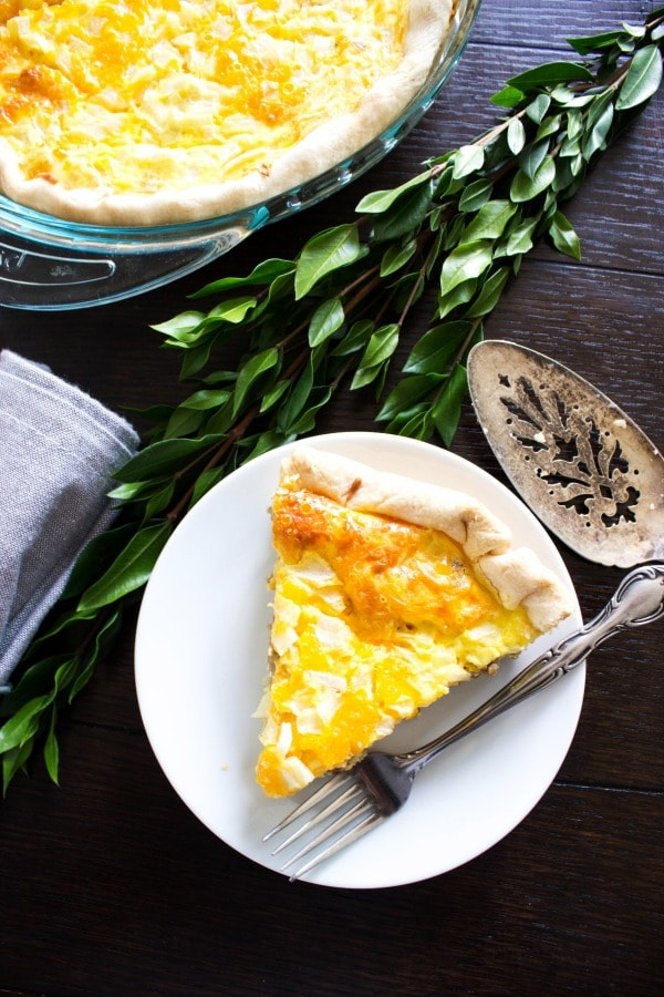 Easy Sausage Quiche is easy to make & devour. We make this for breakfast, lunch and dinner. Who would have thought it'd be one of my family's favorites?!