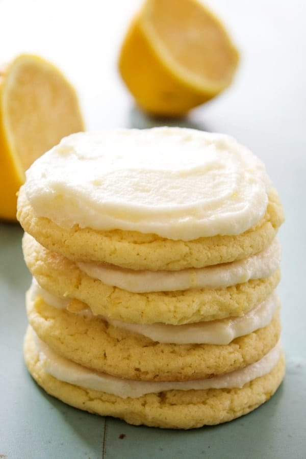 lemon sugar cookies,frosting, lemons, frosted sugar cookies