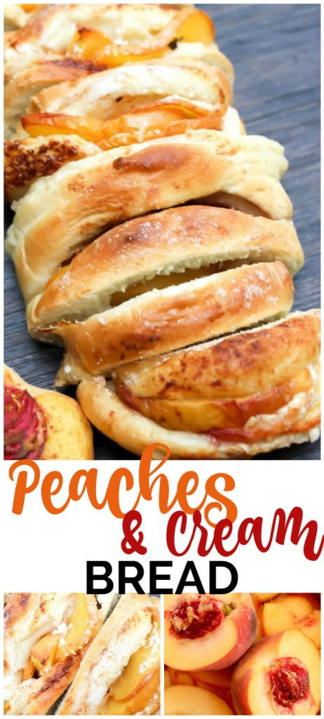 Peaches & Cream Bread pinterest image