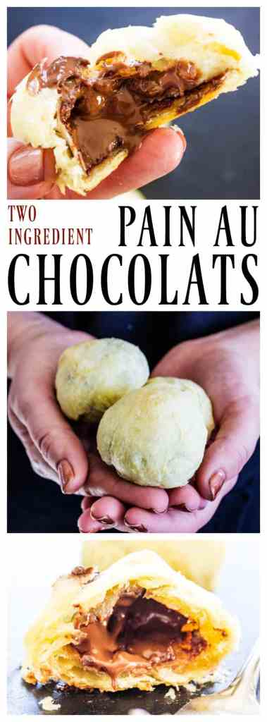 This recipe for 2 INGREDIENT PAIN AU CHOCOLATS is simple, easy and delicious. Soon you will be eating this classic pastry fresh from your oven.
