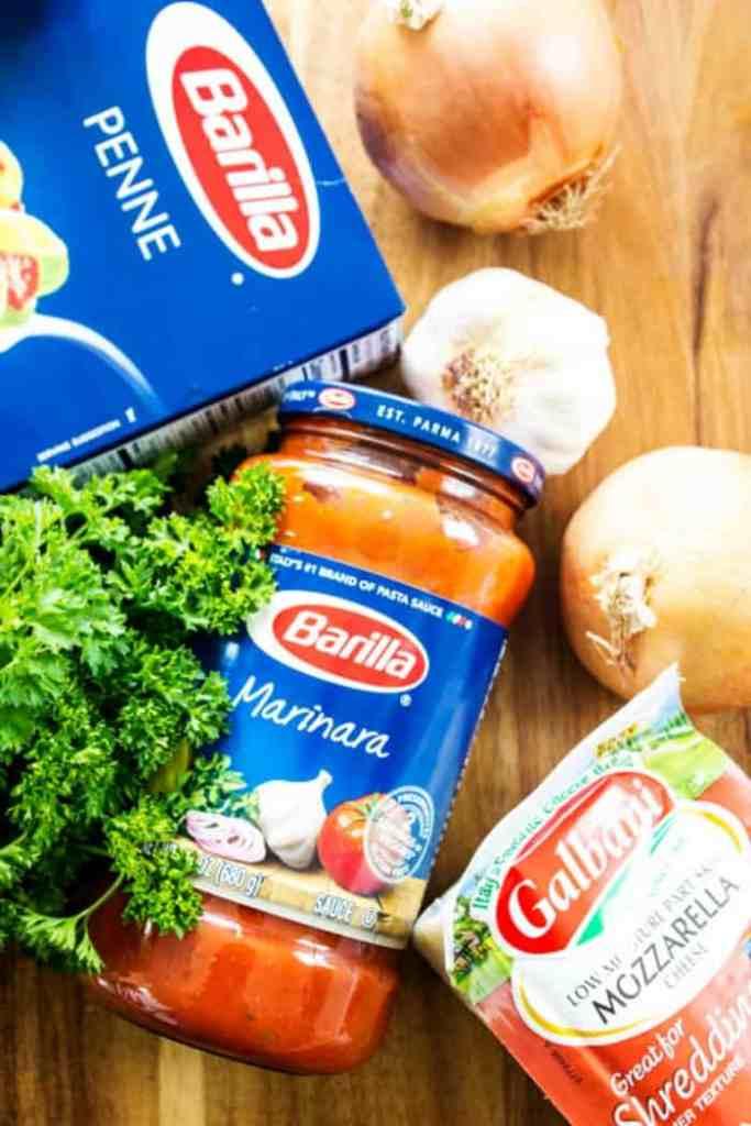 CREAMY ITALIAN SAUSAGE SOUP sauce, pasta, mozzerella
