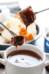 Rich, creamy and decadent this CHOCOLATE PEANUT BUTTER FONDUE recipe is so easy to make and insanely delicious to devour.