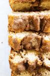 cinnamon sugar bread with cinnamon swirl