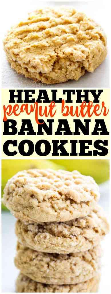 PEANUT BUTTER BANANA COOKIES, peanut butter cookies, banana cookies, bananas