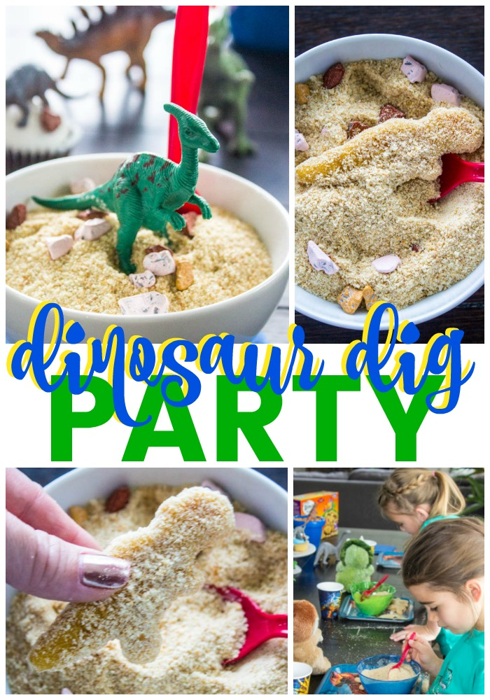 Throwing your own Dinosaur Dig Party is simple, easy & fun. Whether you're celebrating National Dinosaur Day or birthday this Dinosaur Dig Party will not only entertain your guests but keep them well fed.