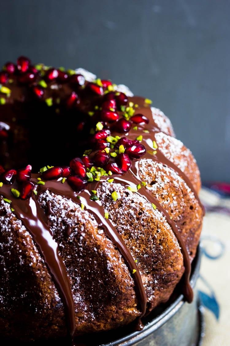Marmorkuchen mit Schokolade und Granatapfel (26 von 69)