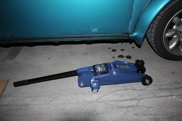 Rover Mini Xn - Einhell Rangierwagenheber