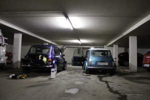 Rover Mini in nasser Garage