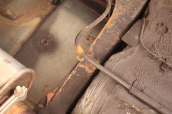 Rover Mini Xn - Batteriekabel Befestigung