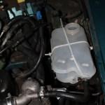 Rover Mini Xn - provisorisch fixierter Ausgleichsbehälter