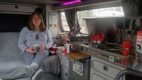 Mandy chilling with a cuppa ;)