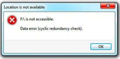 CRC Data Error (Cyclic Redundancy Check) Error