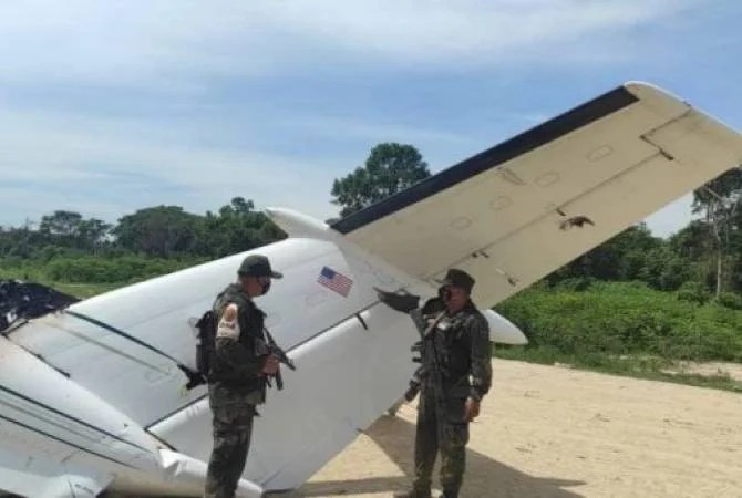The Venezuelan army shoots down yet another plane used to transport drugs to the United States
