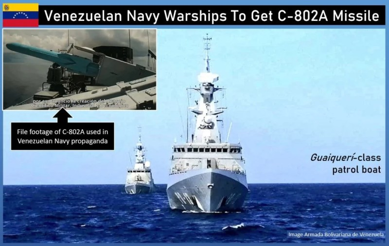 China is arming the Venezuelan navy with anti-ship missiles