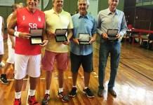 Dodi, Moutinho, Ayrton e Menon foram os homenageados / Foto: Kiko Ross/Databasket