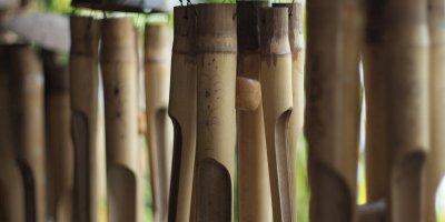 cara membuat kerajinan dari bambu