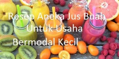 resep aneka jus buah untuk usaha