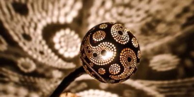 Cara Membuat Tempat Lampu Dari Batok Kelapa