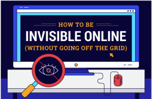 Reducing your digital footprint by staying invisible online