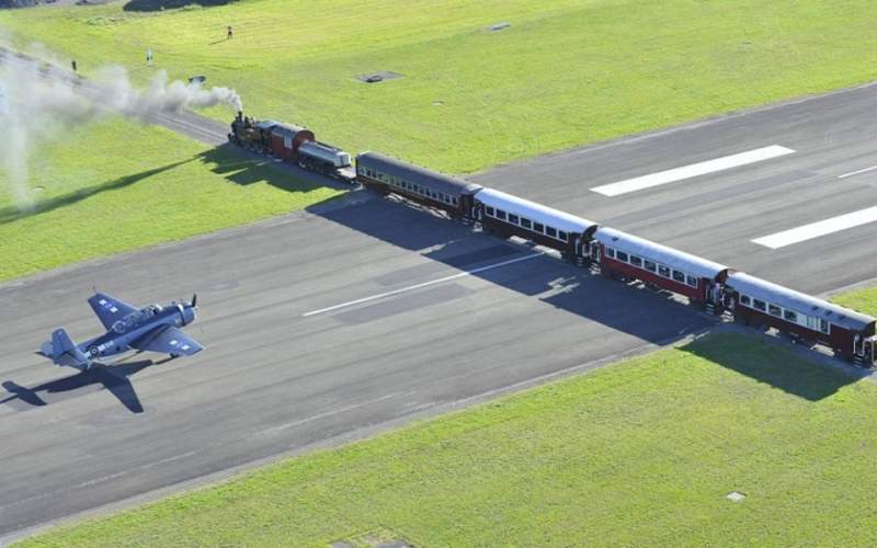 Des pistes d'aéroports traversées par des trains ? C'est possible !