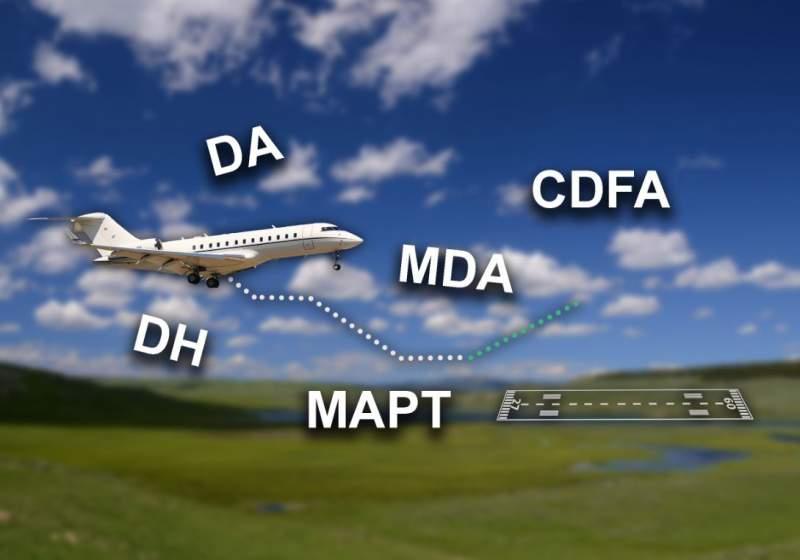 Différences entre les DA, DH, MDA, MDH, CDFA, MAPT