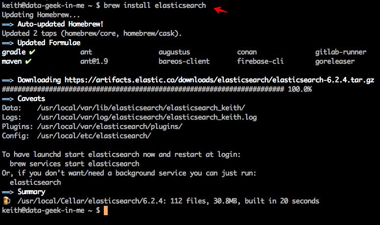 Installing ElasticSearch on a Mac — Data Geek In Me