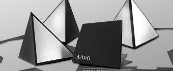 A-D-O Die Cut 3D Invitation