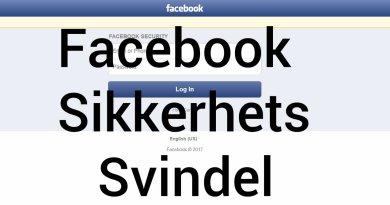 Facebook sikkerhetssvindel