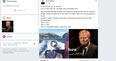 Kurs Nilsen misbrukes i Facebook svindel