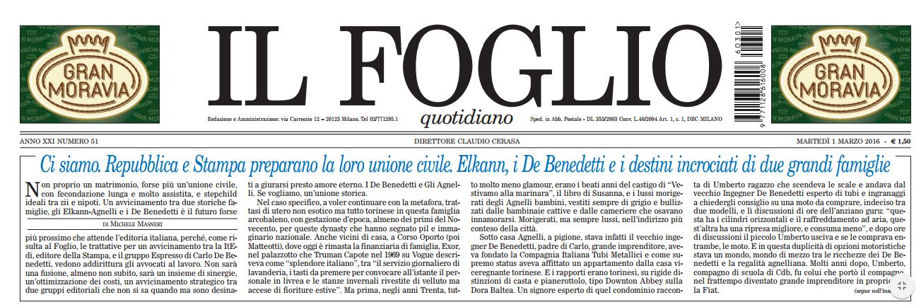 Fusione Repubblica & Stampa