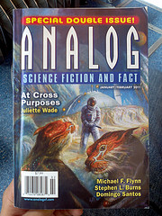Reading ANALOG Science Fiction and Fact magazine