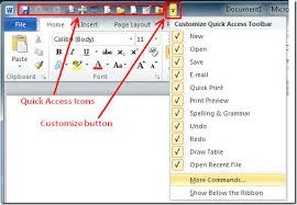 Learn about the Quick Access Toolbar in Outlook