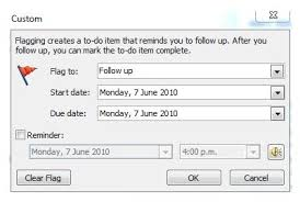 Quickly create a shortcut to flag an email in Ms Outlook client