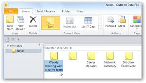 Learn to Get More out of Notes in Ms Outlook