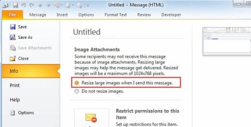 Resize Picture Attachments When I Send This Message