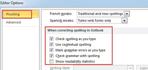Check if Spelling and Grammar Check is Enabled or Not