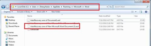 Recover Your Unsaved Word Documents via AutoSave
