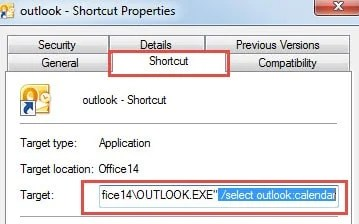 Shortcut Properties