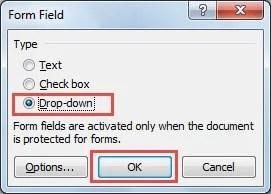 openoffice create pdf drop down